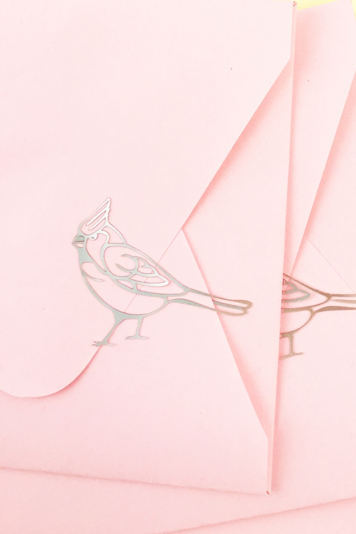 DIY Silver Cardinal Seals - Maritza Lisa: These sweet cardinal seals are made with printable silver foil to make perfect seals for all your envelopes and packages. Click through for tutorial...