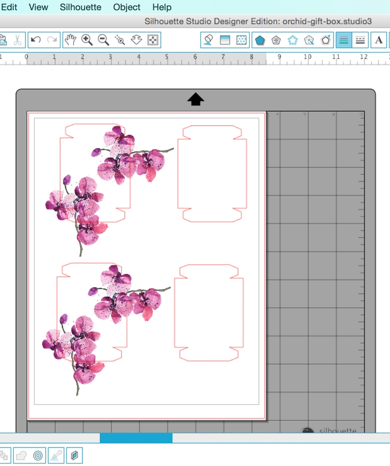 DIY Watercolor Orchid Gift Boxes on Maritza Lisa - Use these lovely watercolor orchid images and free download to make your own pretty packaging - Click through for the how-to