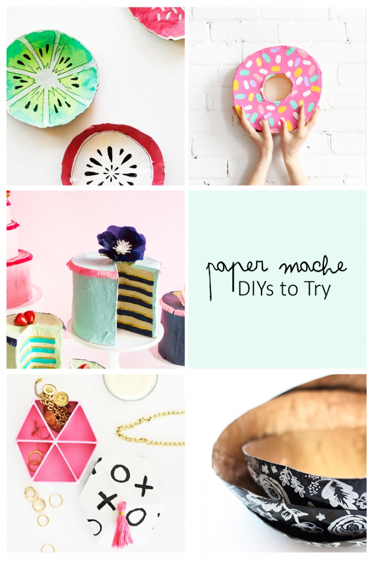 5 Paper Mache DIYs To Try - This week's roundup is all about Paper Mache. Perfect projects to try this weekend. Click through for details on each project.