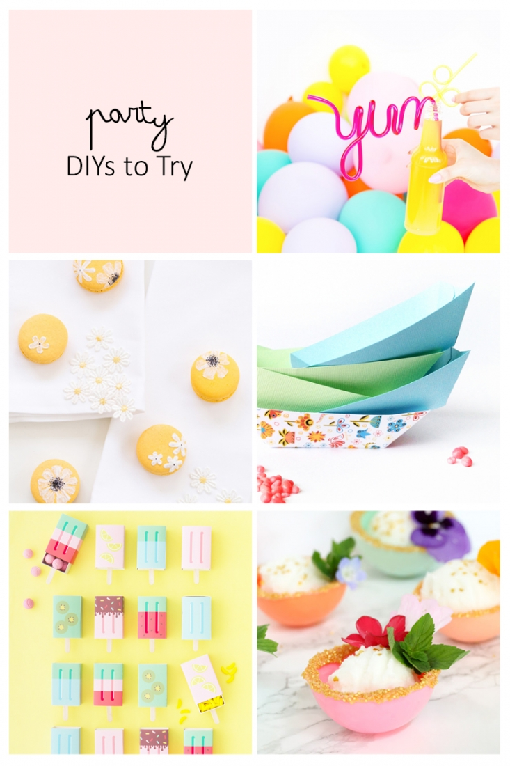 5 Party DIYs To Try on Maritza Lisa - This week's inspiration is all about parties and some pretty DIYs to add that personal touch to your celebrations. Click through for details on each DIY