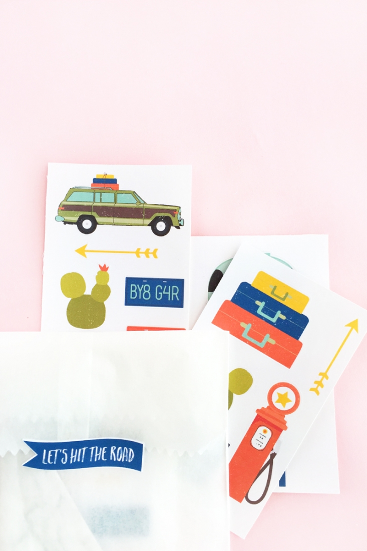 DIY Travel Sticker Gift Set on Maritza Lisa - Make your own travel stickers and seals, then package them into a perfect gift for all your loved ones who are adventure-bound. Click through for the tutorial!