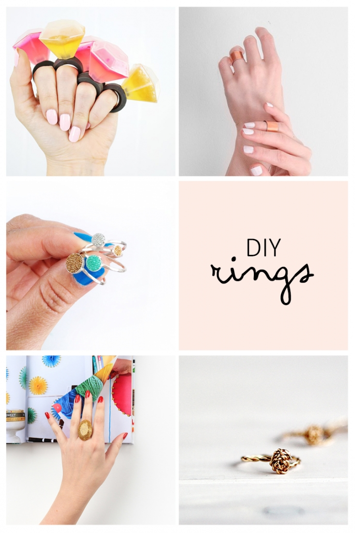 5 Must Try DIY Rings - This week's inspiration is all about DIY Rings. These rings are the perfect summer accessories. Click through to get the scoop on how to make your own!