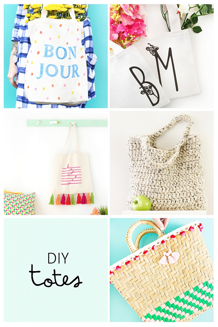 5 Summer DIY Totes to try - This week's roundup is all about totes you can make for the summer. Click through for the details on each tutorial!