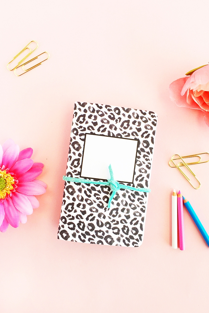 DIY Leopard Print Notebooks - Just in time for back to school. These little journals will help you keep you on track. Click through to make your own on Maritza Lisa!
