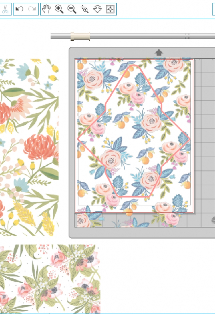 DIY Double Sided Floral Envelopes - Use your printer and these pretty florals to make your own double-sided stationery. Click through for the tutorial on Maritza Lisa!
