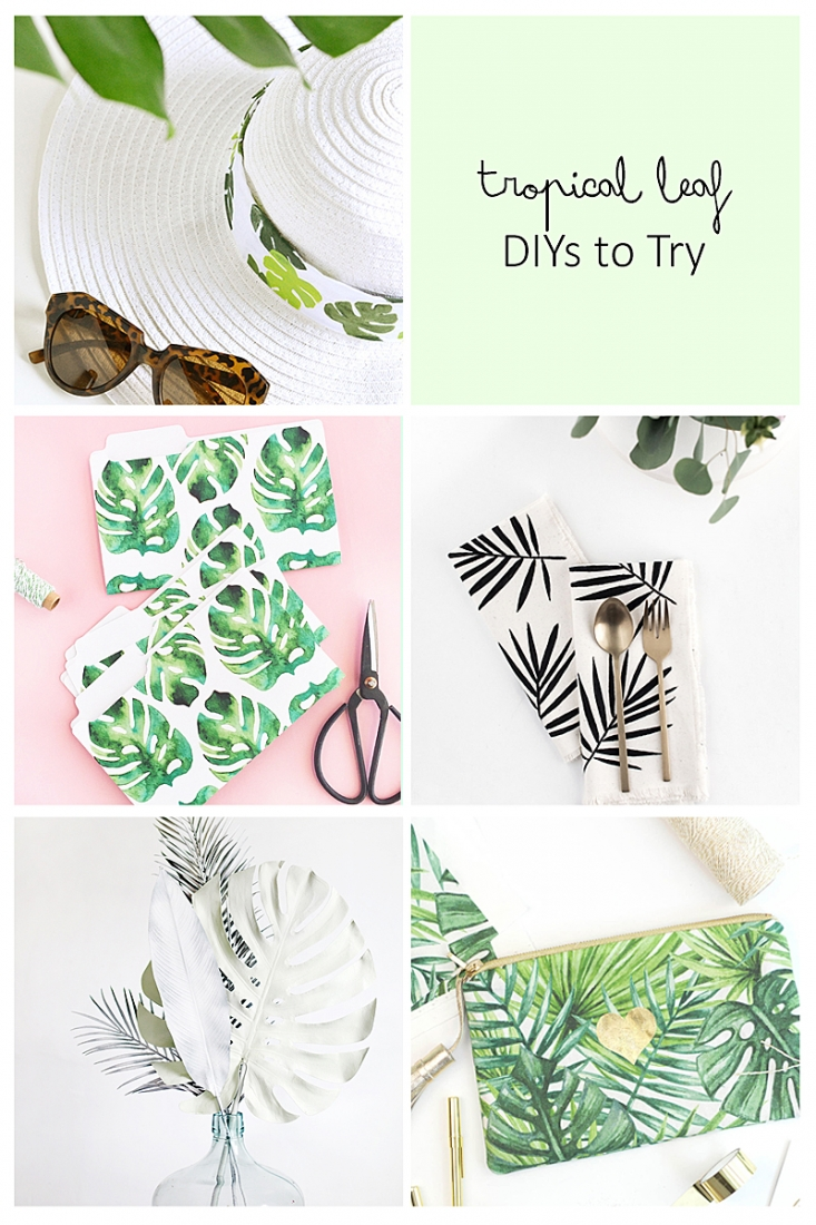 Try These 5 Tropical Leaf DIYs on Maritza Lisa - This week's roundup us all about all things leafy, green and tropical. Click through for the tutorials!