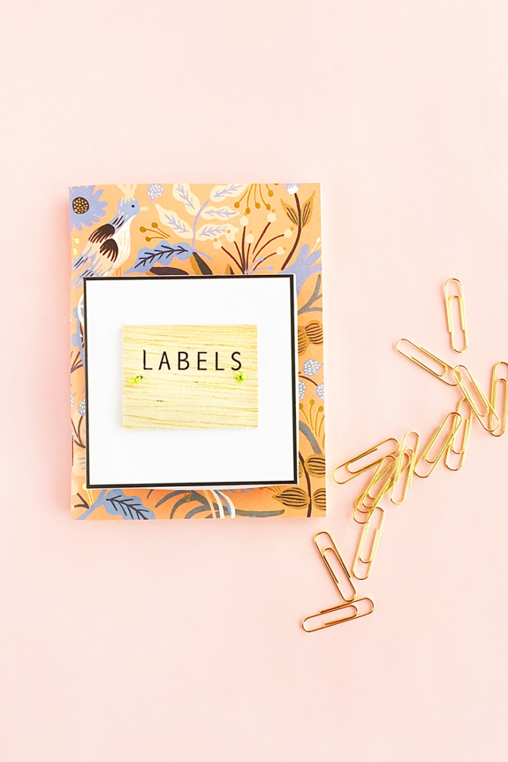 DIY Balsa Wood Labels - Maritza Lisa: Looking for a new way to label and organize? Check out this tutorial for wood labels - great for journals/planners!