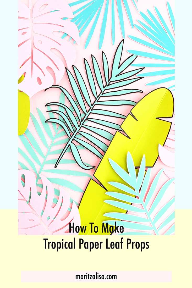 Diy Tropical Paper Leaf Props