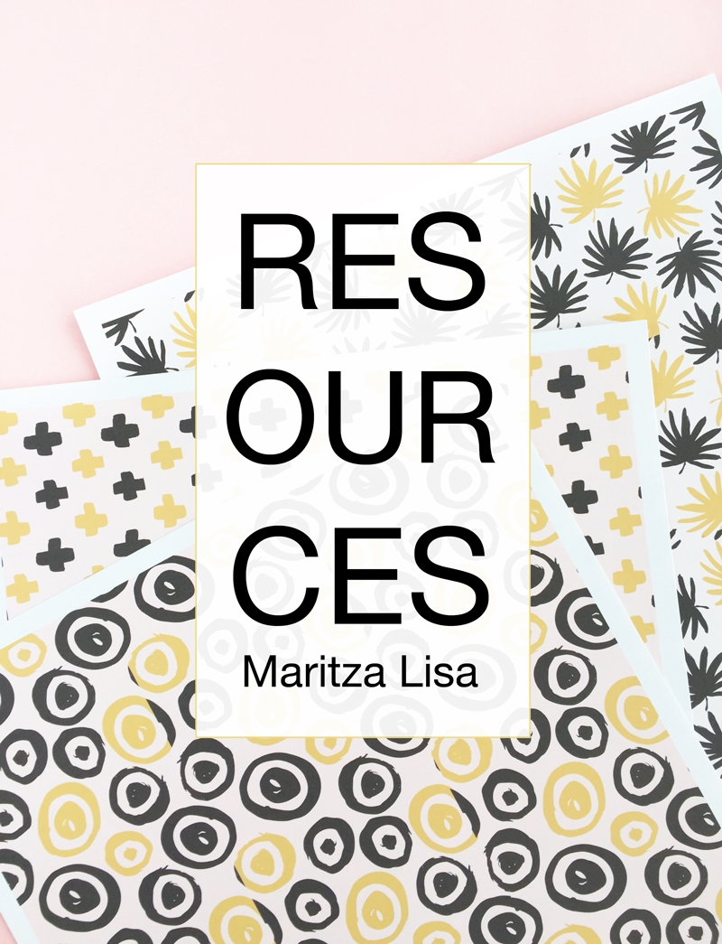 Resources-Maritza-Lisa - Blog Supplies - Adobe Photoshop Elements - Silhouette Studio Designer Edition - Apple iPhone - Apple iPad - Apple MacBook Pro - Creative Market - Photo background paper roll - Craft table - DIY & Craft Supplies - Silhouette CAMEO 3 - Silhouette Curio - Silhouette Cutting Mat - Silhouette Blade - Printable Tattoo Paper - Printable Sticker Paper - Cardstock - Printer - Balsa Wood - Printable Gold Foil - Printable Silver Foil - Vinyl Starter Kit - Scissors - Cutting Mat - Craft Knife - Scoring Board and Envelope Tool - Silhouette Cameo Toolkit