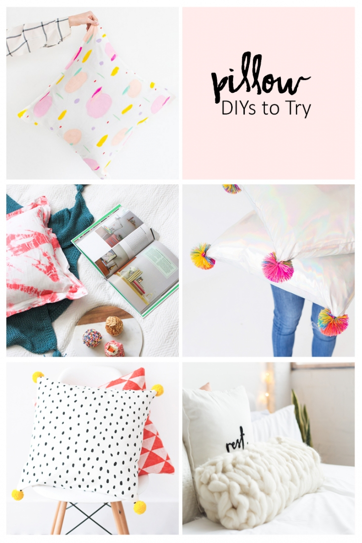 5 Pillow DIYs To Try - Sometimes all you need to create a big impact is a simple accessory DIY. These pillows and cushions will give your home the handmade and modern facelift it needs. Click through to get the details and tutorial links!