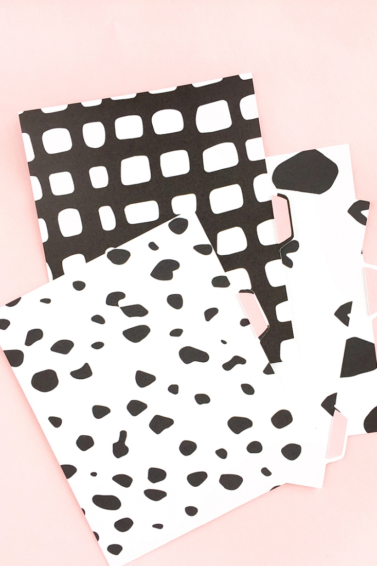 DIY Black & White Tabbed Folder Dividers - Maritza Lisa - Stationery - Paper Craft - Silhouette Cameo Project - Paper - Design - Stationary - Scrapbooking - Planner - Journal - Paper cut - Silhouette America - Silhouette Project