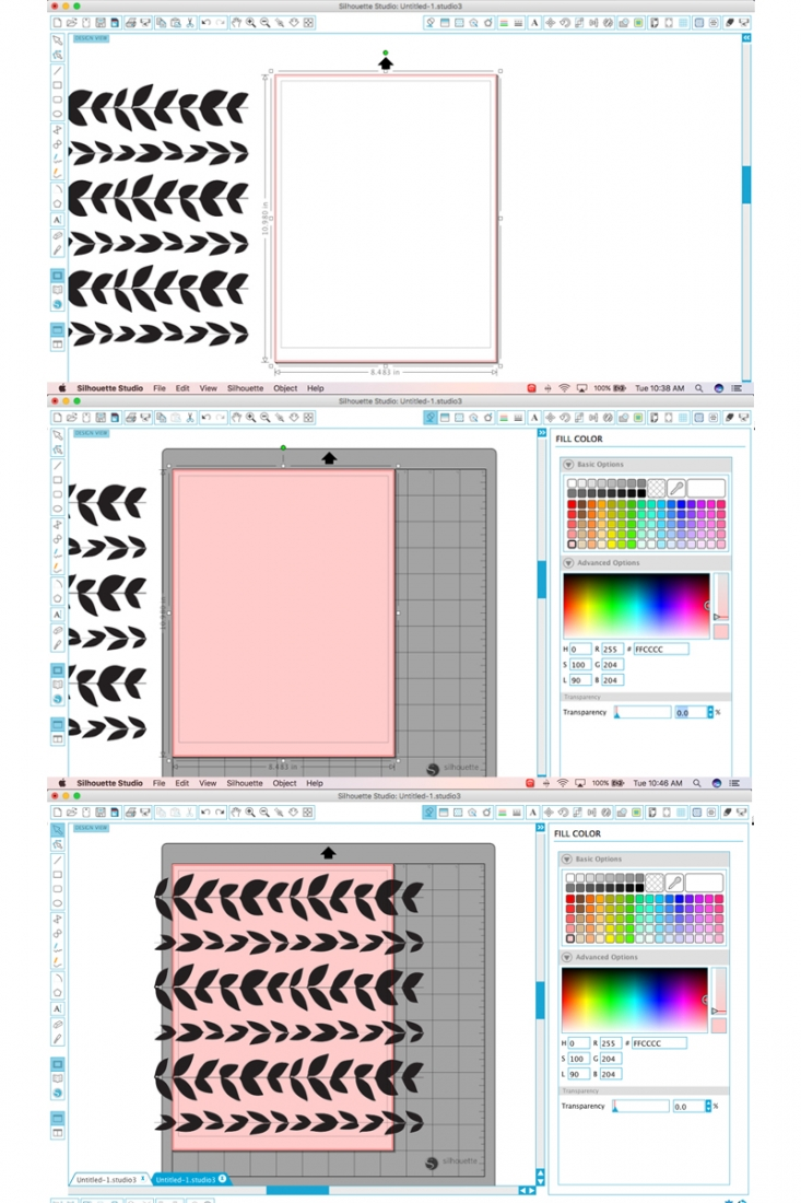 How To Change Background Colors In Silhouette Studio - Maritza Lisa: A quick and easy tip on how to use this free software to make pretty patterned paper with colored backgrounds. Click through to make your own!