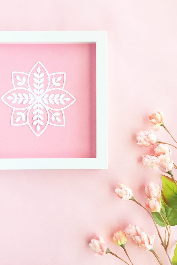 DIY Leaf In Leaf Wall Art - Maritza Lisa - Make your own wall art with your favorite leaf design, a picture frame and cardstock. Click through for the instructions of this DIY and Crafts tutorial!