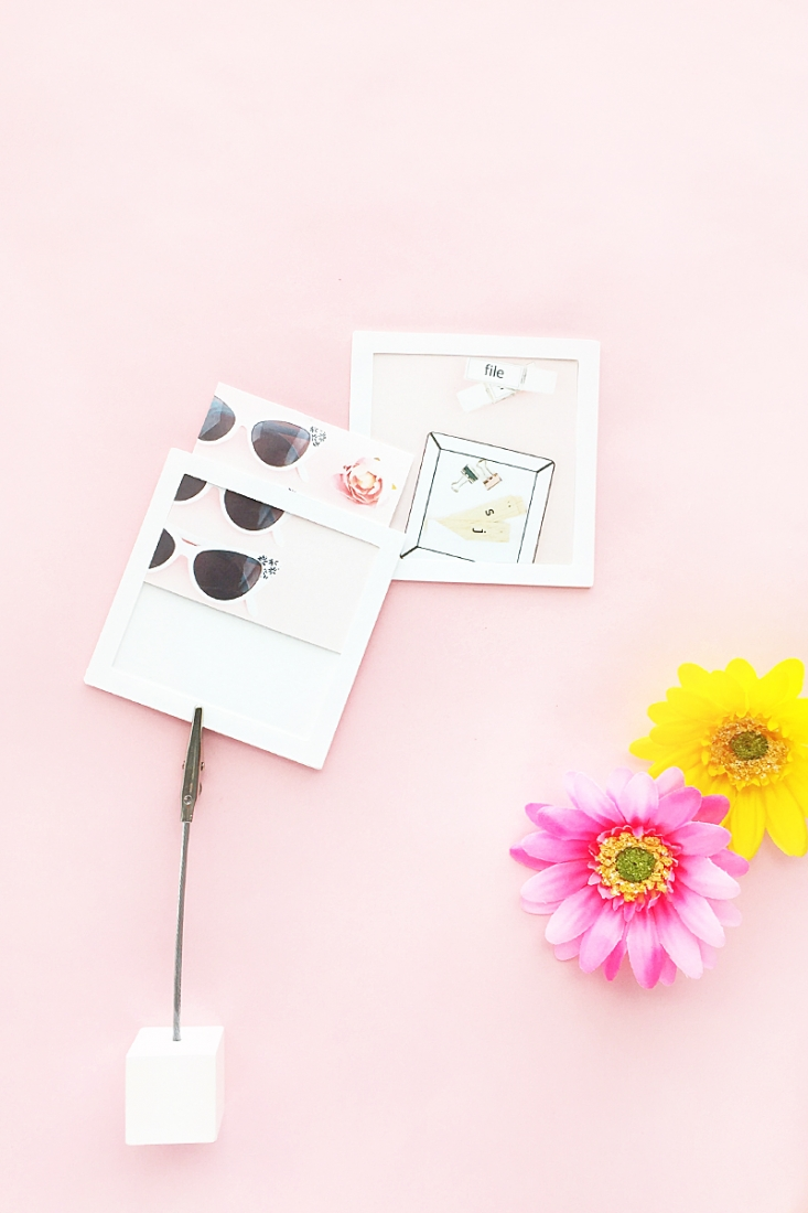 DIY Mini Picture Frames - Maritza Lisa - Create your own mini picture frames with this free cut file or PDF file! Click through to download!