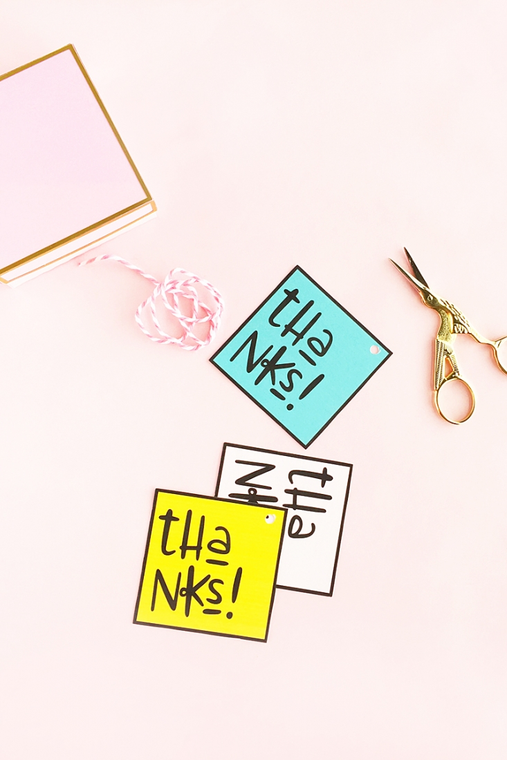 DIY Thanks Gift Tags - Maritza Lisa - Create your own Thank You Tags with this quick and easy DIY and Crafts tutorial. Click through to see how easy!
