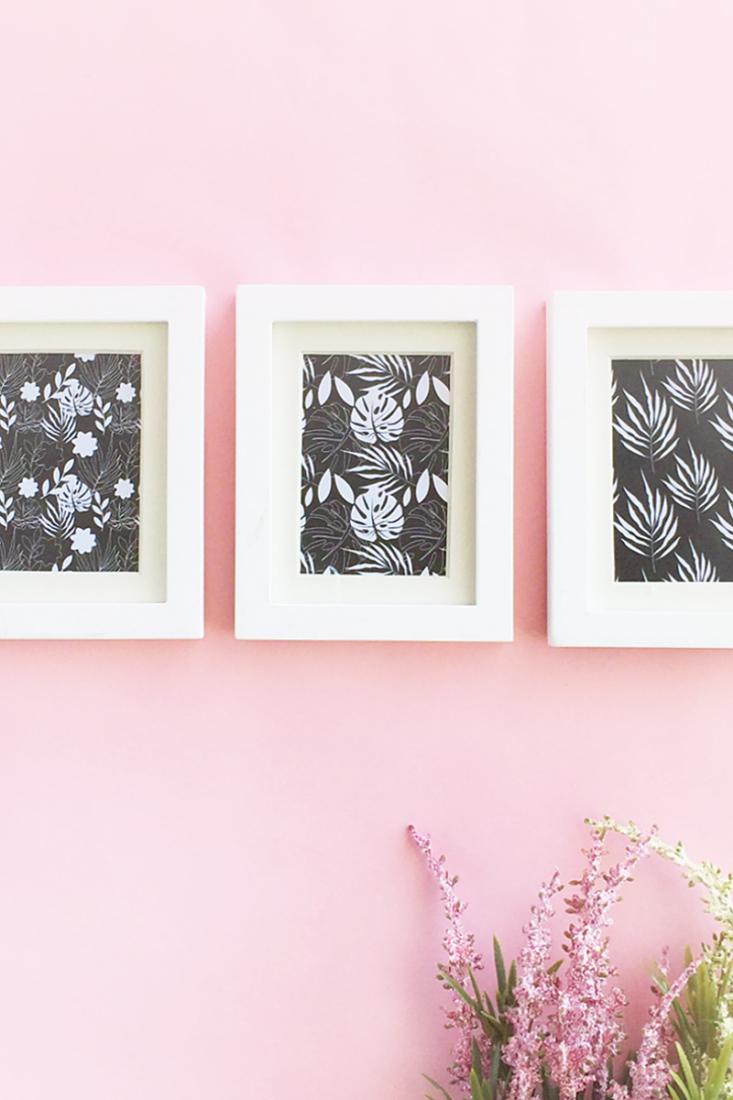 Easy DIY Mini Framed Floral Artwork