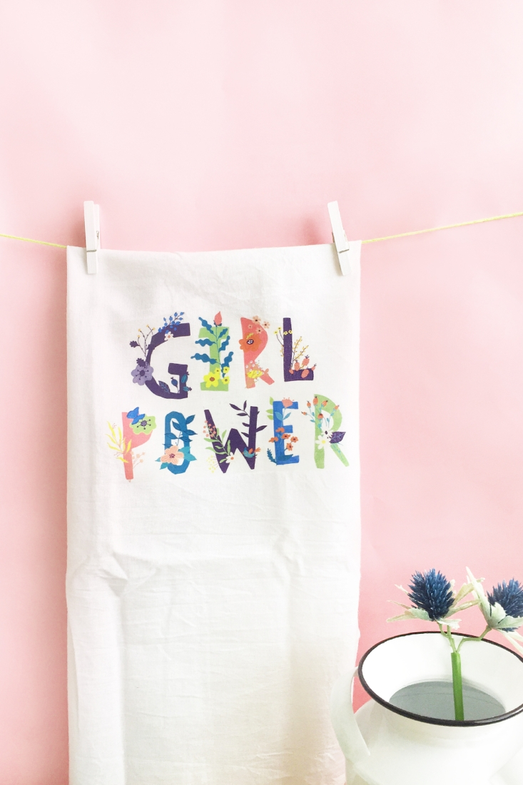 DIY Girl Power Tea Towels