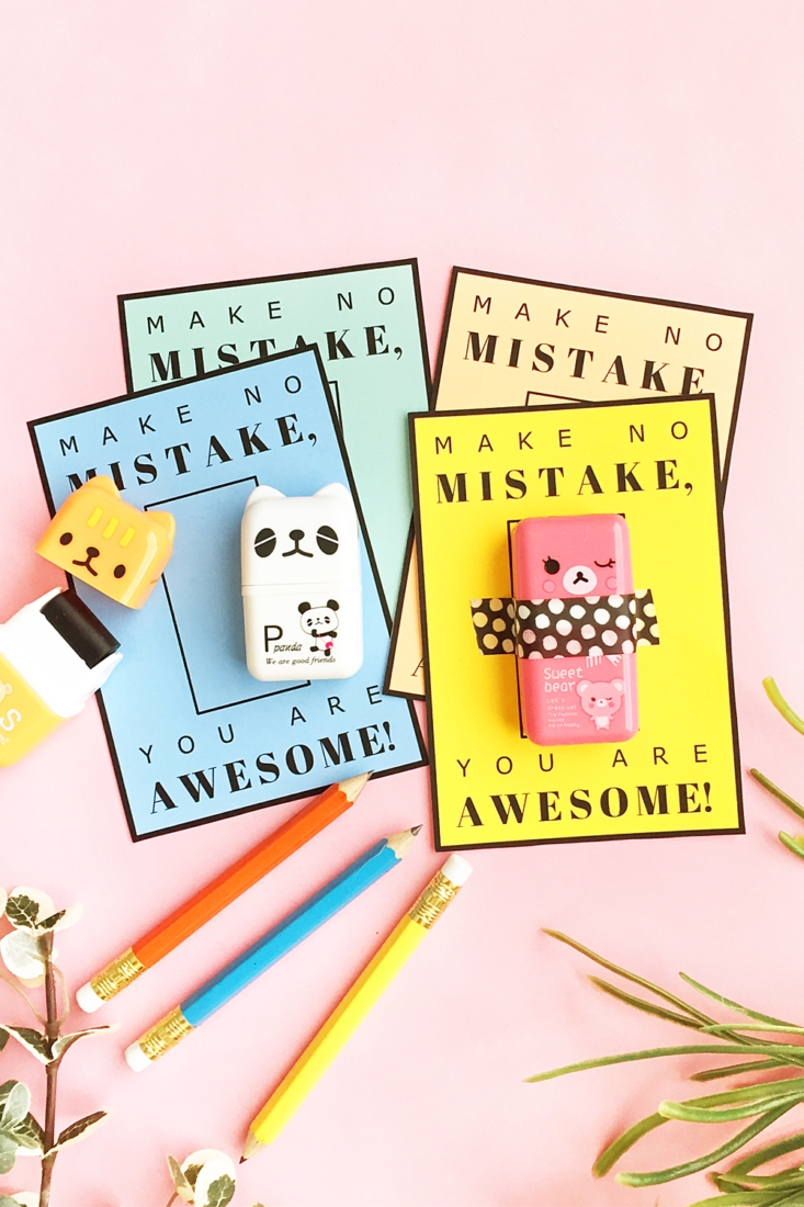 DIY Valentine's Gifts – Cute Erasers For Kids