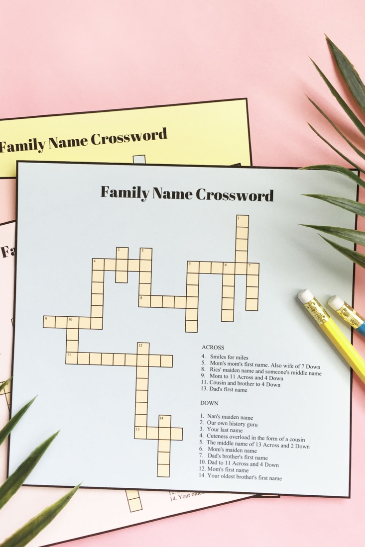 Games For Kids – DIY Printable Crossword Puzzles