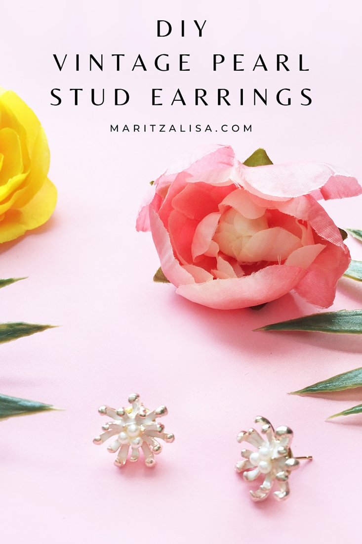 How do you make pearl stud earrings? This tutorial will show you how easy it is to make your own gold vintage pearl stud earrings!