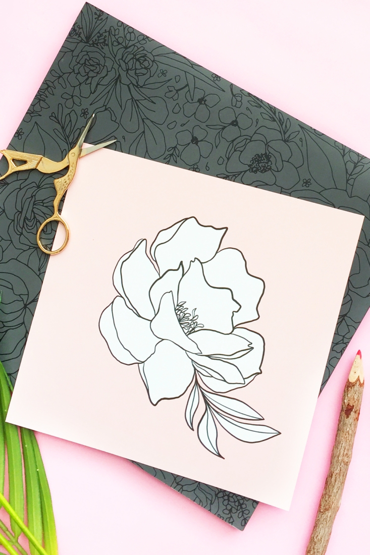 Free Printable Coloring Page – Single Flower