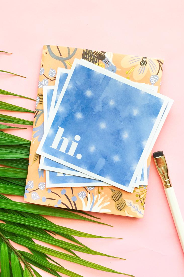 DIY Tie Dye Greeting Cards