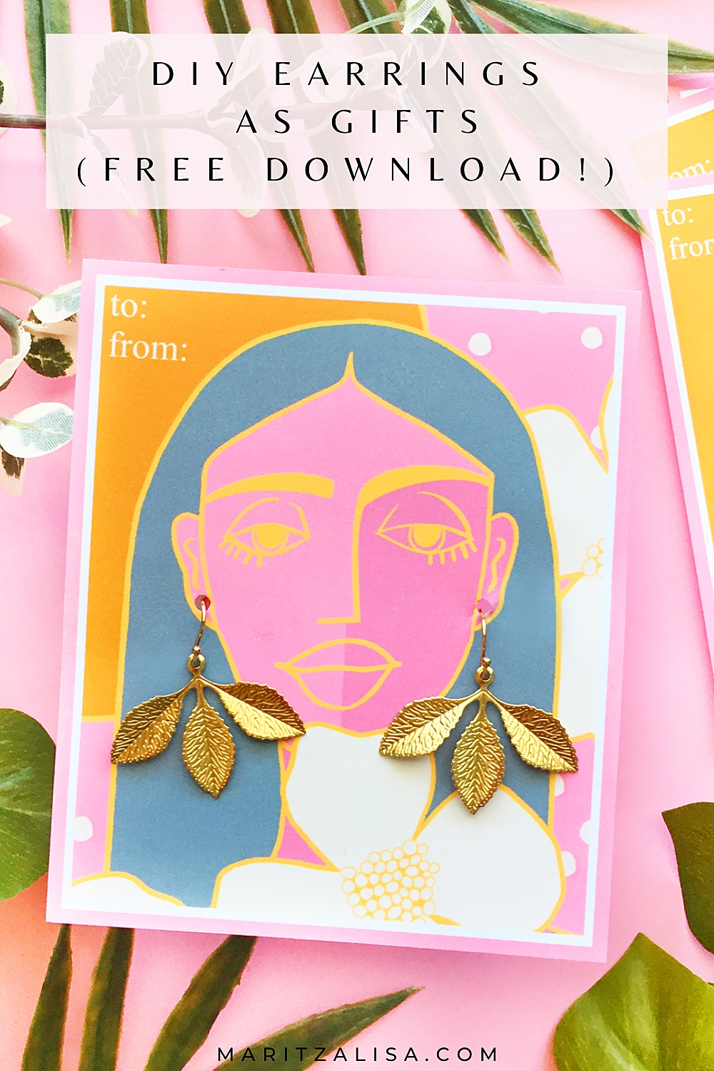 DIY Earrings As Gifts - In this tutorial, I will show you how to make super easy earrings as handmade gifts with a free download!