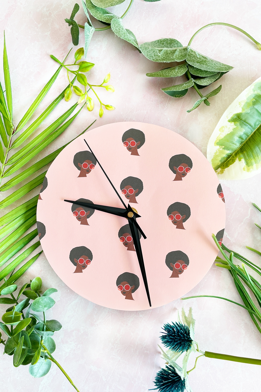 DIY Patterned Paper Clock